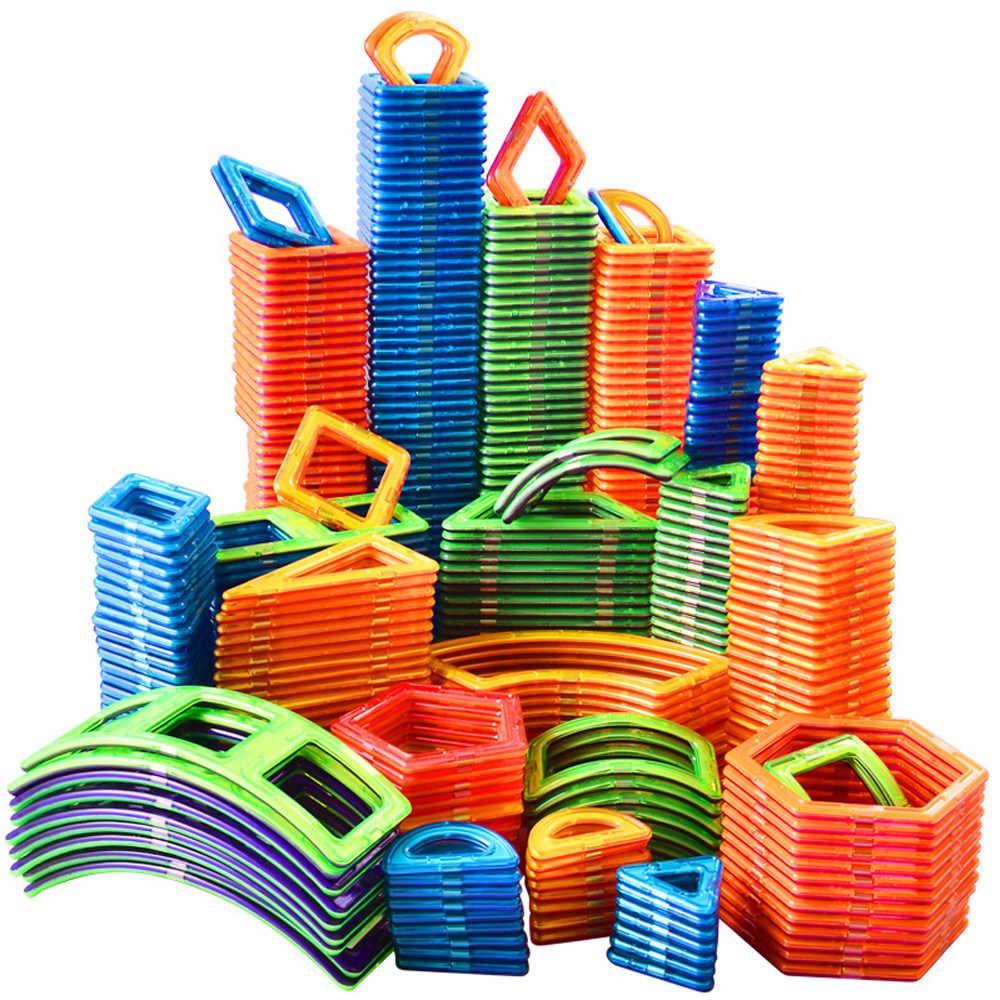 1 sztuk Big Size bloki magnetyczne zestaw konstrukcyjny 3D Model budynku konstruktor układanki magnetyczne magnes zabawki dla dzieci prezent