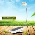 Venta caliente Mini Solar Led Luz del Libro del Clip Ajustable Libro de Lectura de Luz Led Lámpara de Mesa