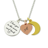 Engraved Baby Shoe Necklace With Birthstone Gold Color Personalized Baby Bootie Pendant Best Gift For Mother