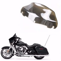 Light Smoke 9'' Wave Windshield Windscreen For Harley 2014 UP Street Glide Tri Glide Electra Glide Touring