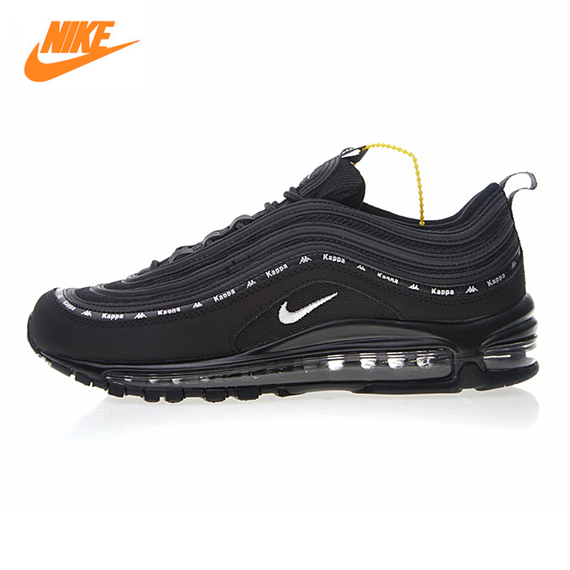 Nike X Kappa Air Max 97 OG Men's Running Shoes,Outdoor Sneakers Shoes,Black & Grey,Breathable Non-slip Wear Resistant AJ1986 007