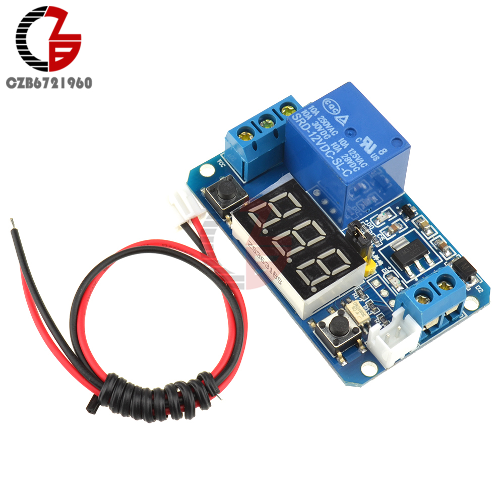 Dc 12v Led Digital Display Time Delay Relay Trigger Module With Current Monitoring Gic 1 2
