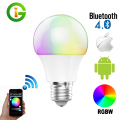 Bluetooth LED Bulb 4.5W E27 RGBW Bluetooth 4.0 Smart LED Light Color Change Dimmable by IOS / Android APP