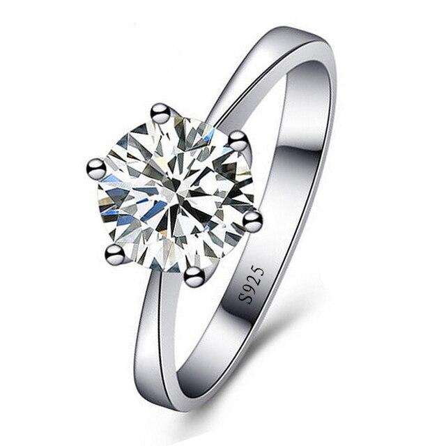JEXXI Romântico Anéis de Casamento Jóias Anel de Zircônia Cúbica para As Mulheres Homens 925 Esterlina Anéis De Prata Acessórios