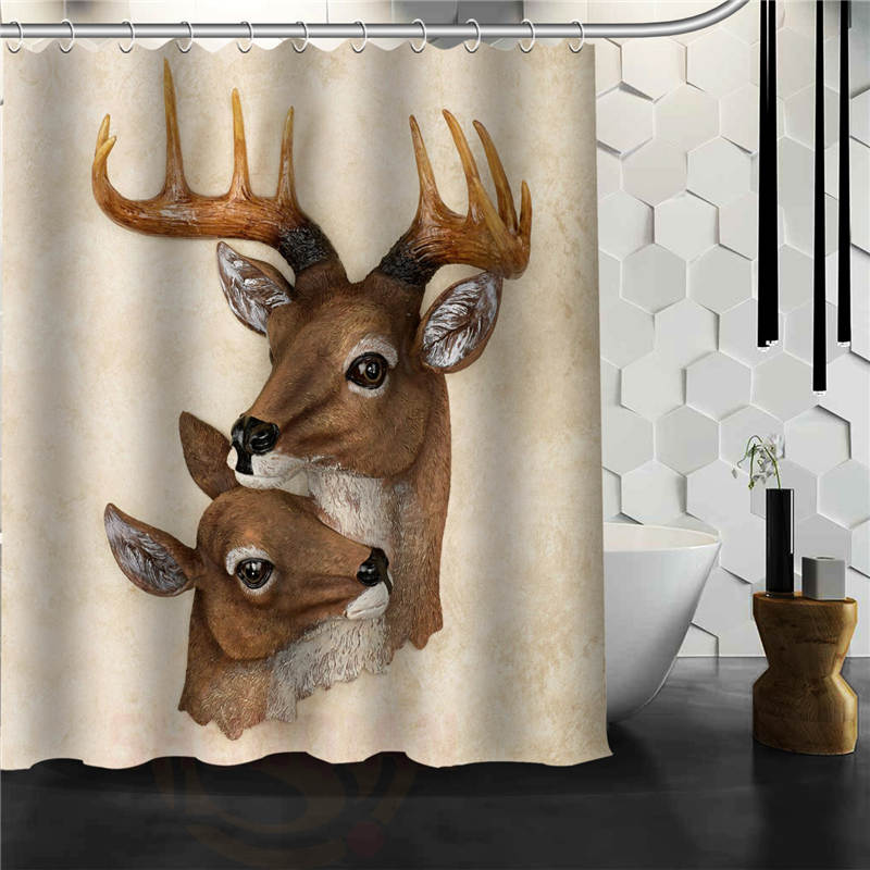 Custom Deer Shower Curtain Curtains Bathroom Mildewproof Polyester Waterproof Fabric With Hooks In From Home Garden On