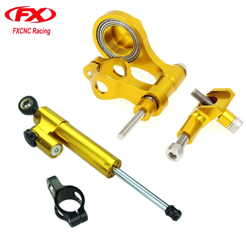 For Yamaha YZF R6 2006 - 2015 14 13 CNC Motorcycle Stabilizer Damper Steering Mount Bracket Support Kit For YZF R1 2006 - 2012 for yamaha yzf r1 2004 2014 yzf r6 2006 2007 motorcycle frame mobile phone navigation mount bracket accessories