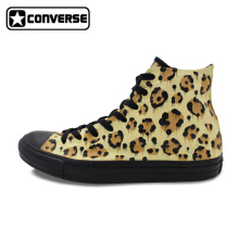 Leopard Converse All Star Original Design Custom Shoes Man Woman Hand Painted Shoes Women Men Sneakers Skateboarding Shoes