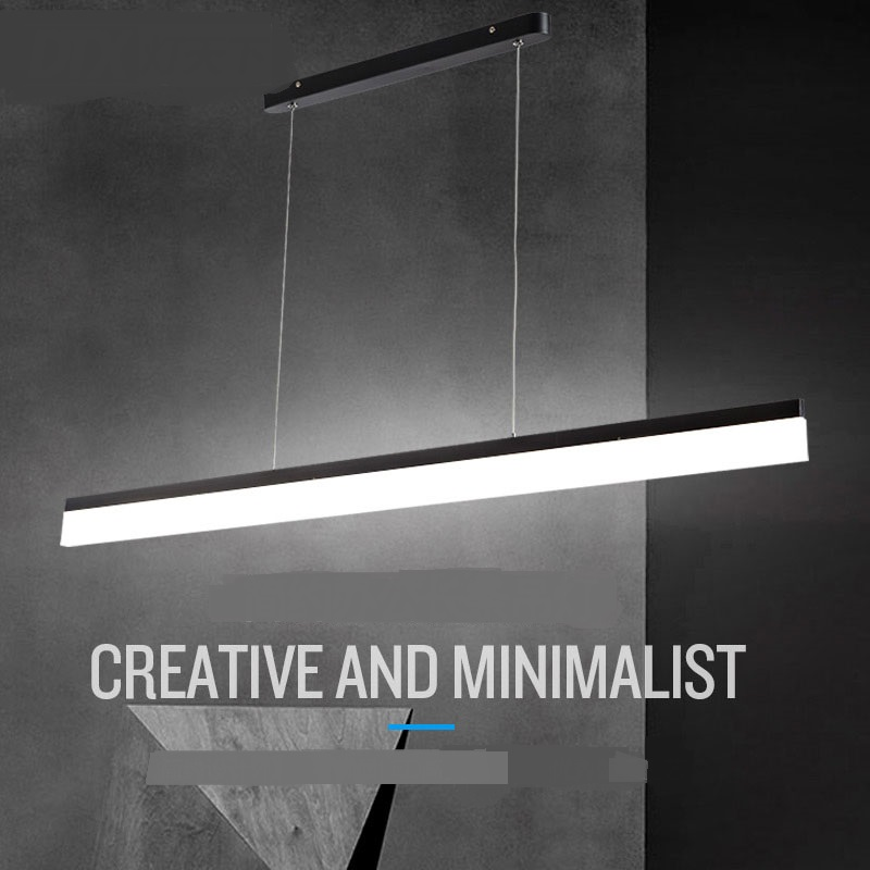 Modern office lighting pendant light personality restaurant balcony rectangular modern studio minimalist led pendant lamps BG12 modern office light pendant lights simple led office long strip aluminum rectangular commercial lighting market ultra thin lamps