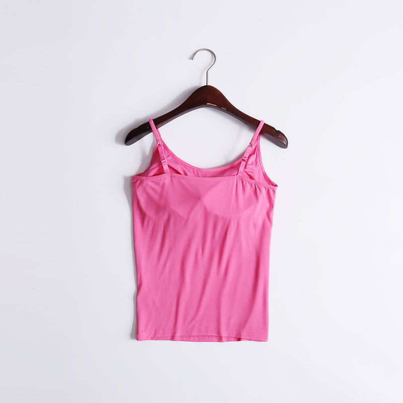 c95760c706989d Sexy tank top Women Pad Bra Bustier Bralette Top Solid color Built In Bra Padded  Camisole Ladies modal Tank Tops Camisole Sling