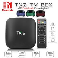 TX2 Android 4 4 TV Box 1GB DDR3 8GB Flash Rockchip RK3229 2 4G Wifi IPTV