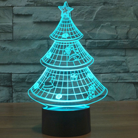 Holiday Lighting Christmas Lights 7 Color Touch Changing Christmas Led Tree Lights Gift 3d Christmas Decorations
