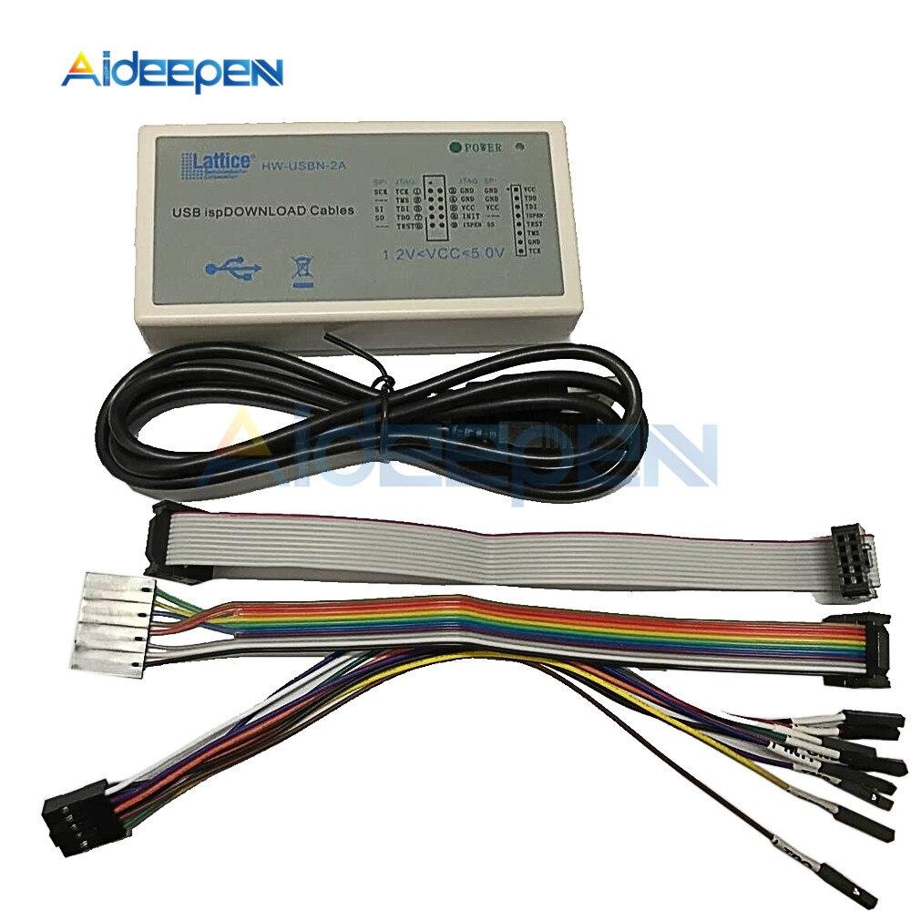 Nueva llegada USB Isp descargar Cable JTAG, SPI programador de celosía FPGA CPLD Placa de desarrollo descargar