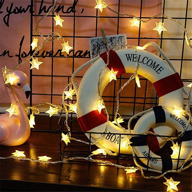 LED Star Light String Twinkle Garlands