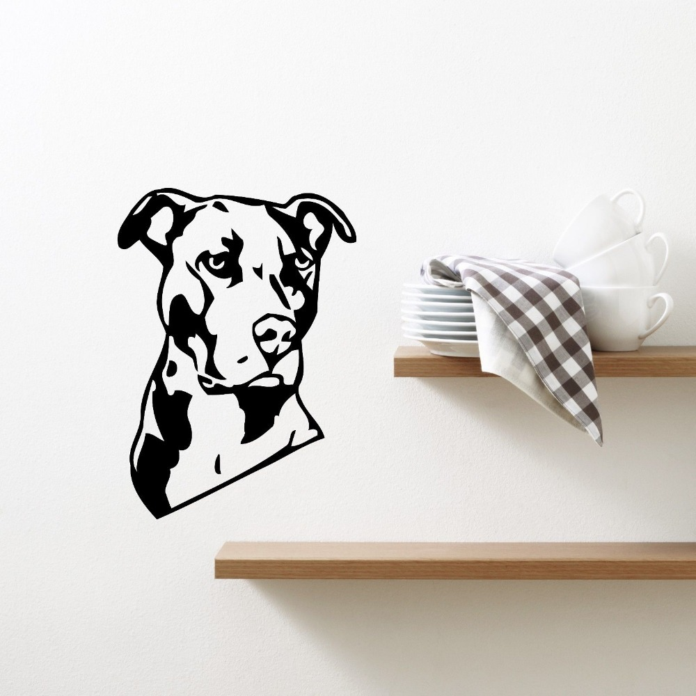 Pet Shop Sticker Dog font b Decal b font Muurstickers Posters Vinyl font b Wall b