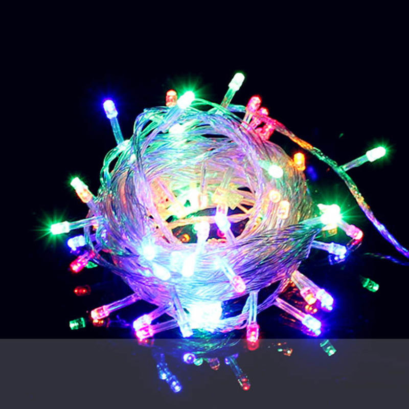 LED string lights 10M waterproof 110V / 220V 100 LED holiday lights string 9 color Christmas party outdoor decorative lights