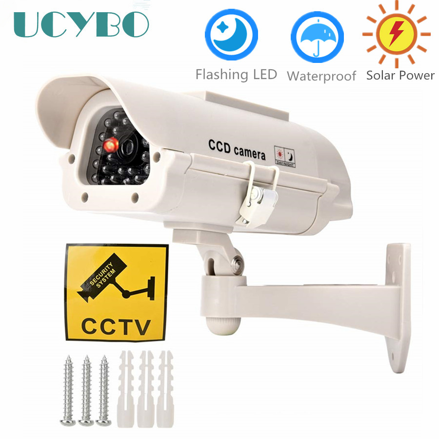 Indoor Outdoor Solar Powered Flashing LED Light Dummy Fake CCTV Security Outdoor IR Camera dummyIndoor Outdoor Solar Powered Flashing LED Light Dummy Fake CCTV Security Outdoor IR Camera dummy
