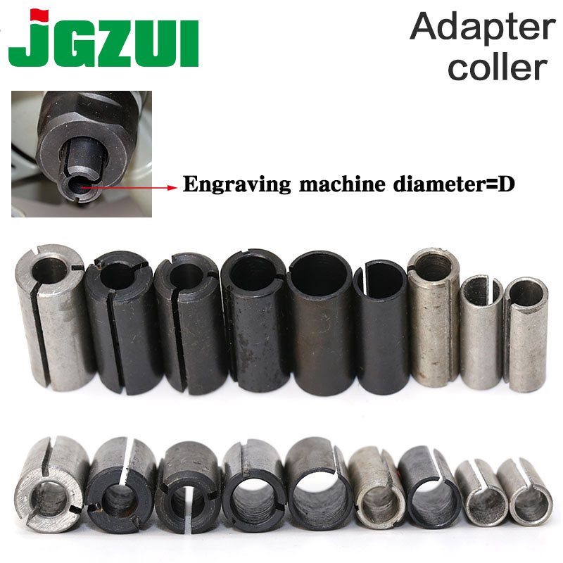 1pcs High Precision Adapter Collet Shank CNC Router Tool Adapters Holder 12.7mm Change To 6.35mm/ 8-6.35/ 8-6/ 12-8mm 6mm Size