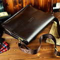 Classic Brand design men Business Briefcase Fashion leather shoulder messenger bags Casual men bag Big enough  for A4