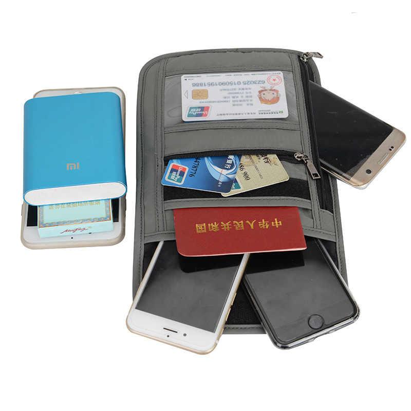 5f7c5a40c782 RFID Blocking Travel Multifunction Neck Pouch Passport Holder Travel Wallet  Waterproof ID Card Holder for Men & Women