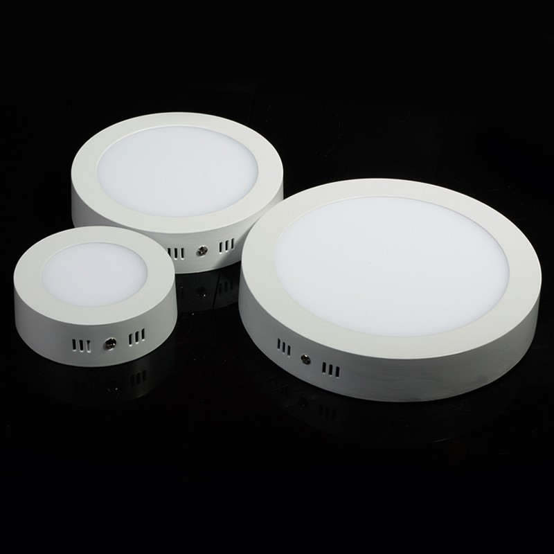 10pcs Dimmable Led Panel Light 6W 9W 12W 18W surface mounted light 8inch high lumens downlight round