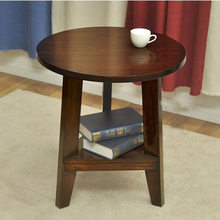 Coffee Table Living Room Furniture Home Furniture Solid wood round sofa side tea table self-contained minimalist desk 60*60*60c(China)