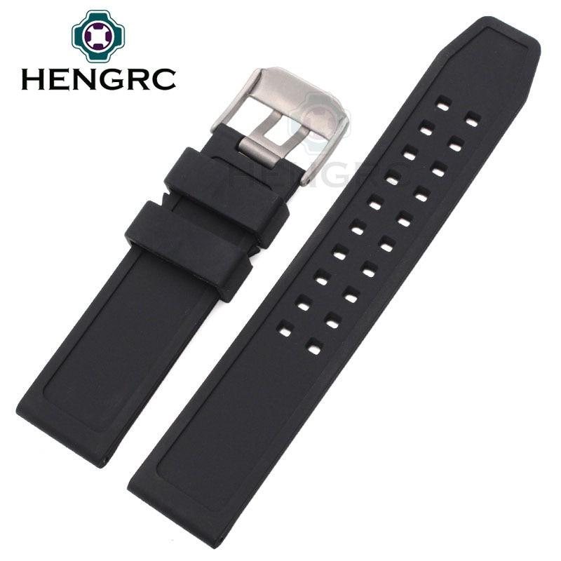 Correas de reloj de goma suave Hombres Negro 23mm Reloj de buceo - Accesorios para relojes - foto 4