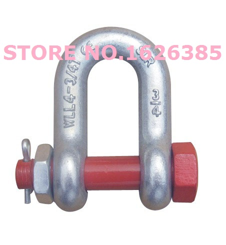 "Modest 0.5t 1/4"" G2150 U.s. Type Bolt Dee Anchor Shackle Electric Galvanized Die Forging Bracket Lifting Bolt Shackle Winch Hoist"