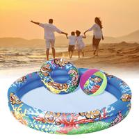 3Pcs for Family Inflatable Adult Children Swimming Ring Inflatable Pool Float Circle For Adult Children Beach Ball
