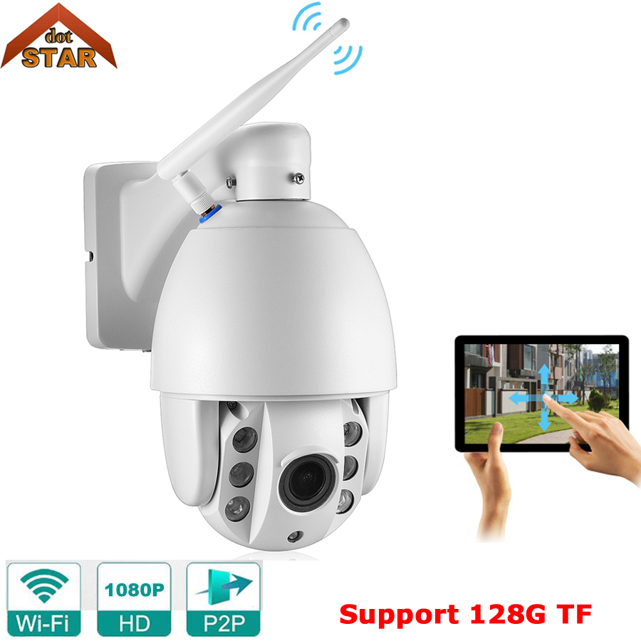 Stardot Mini Wifi Camera 1080P HD PTZ Pan/Tilt/Zoom Auto Focus IR Night Vision 60M P2P Outdoor CCTV IP Camera Wireless Wif howell wireless security hd 960p wifi ip camera p2p pan tilt motion detection video baby monitor 2 way audio and ir night vision