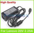 20 В 2.25A 45 Вт Ноутбук Адаптер Переменного Тока Зарядное Устройство для Lenovo Thinkpad ADLX45NLC3 ADLX45NDC3A ADLX45NCC3A 0C19880 59370508