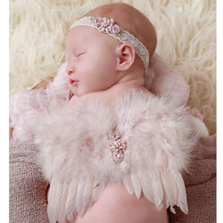 Set Neugeborenen Fotografie Requisiten Häkeln Kostüm Nette Engel Flügel Foto Baby Mädchen Kleidung Outfits Fotografia Zubehör Rosa