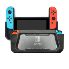 TPU Hybrid Protective Case For Nintend Switch NS Console Hard Cover Case With Tempered Glass Screen Protector Thumb Grip Caps(China)