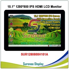 10.1″ 10.1 inch 1024*600 1280*800 HDMI LCD Module Display Monitor IPS Screen with USB Capacitive Touch Panel for Raspberry Pi