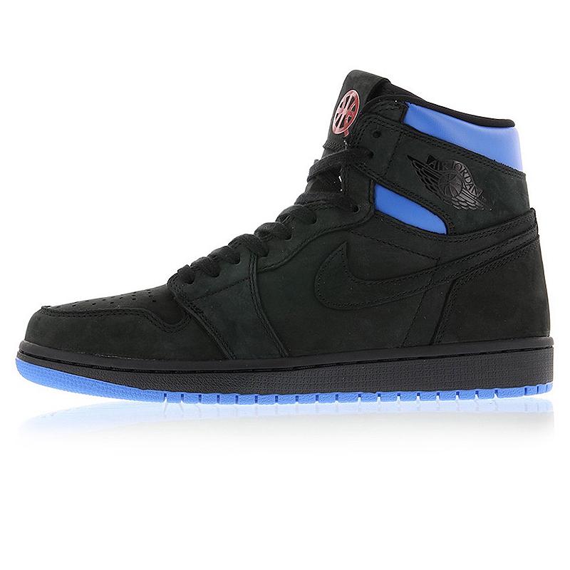 best latest discount speical offer Nike Air Jordan 1 Retro Q54 Quai 54 Black Red and Blue Men's ...
