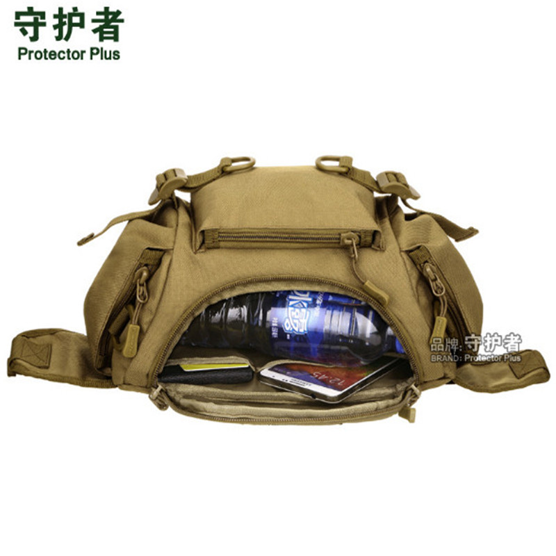 Outdoor Sports Bag Camouflage Nylon Tactical Military Waist Pack Hiking Cycling