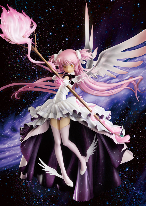 Anime Puella Magi Madoka Magica Kaname Madoka Wing Dress GOD Angel  Version 33CM PVC Action Figure Doll Toys 21cm puella magi madoka magica sexy anime action figure pvc collection model toys brinquedos for christmas gift free shipping