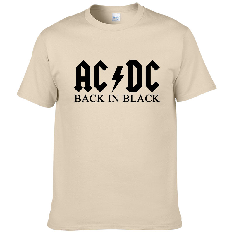 Rock band AC DC   t     shirt   men 2017 summer 100% cotton fashion brand ACDC men   t  -  shirt   hip hop tees for fans #149