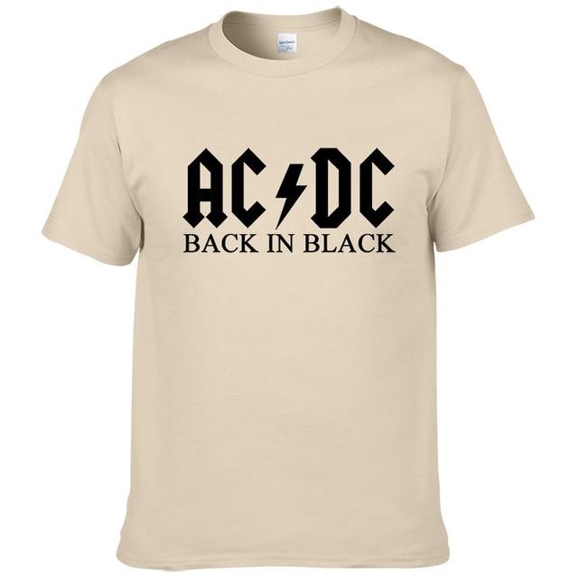 T-Shirt 100% coton Rock band AC DC Hommes