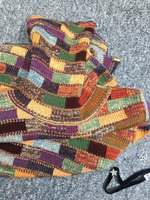 2018 Роскошные Женская мода дизайнер красочные проверяется шерсти, кашемировый вязаный свитер Roll up водолазка Одежда с длинным рукавом джемпе