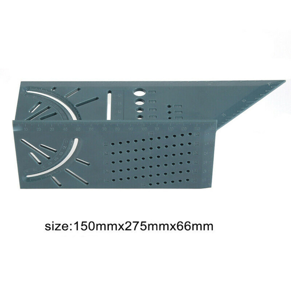 Купить с кэшбэком Woodworking 3D Mitre Angle Measuring Ruler Square Size Measure Tool With Gauge Ruler Tools Woodcraft Scribe T-type 90 Degree B4