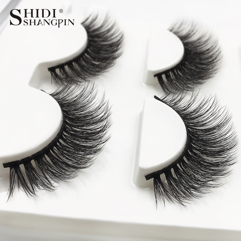 HTB1vjdKuByWBuNkSmFPq6xguVXaS SHIDISHANGPIN 3 pairs mink eyelashes natural fake eye lashes make up handmade 3d mink lashes false lash volume eyelash extension