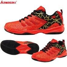 Kawasaki, спортивные мужские кроссовки, обувь для бадминтона, Zapatillas, резиновая, противоскользящая, для помещений, спортивная обувь для мужчин, женщин, K-075