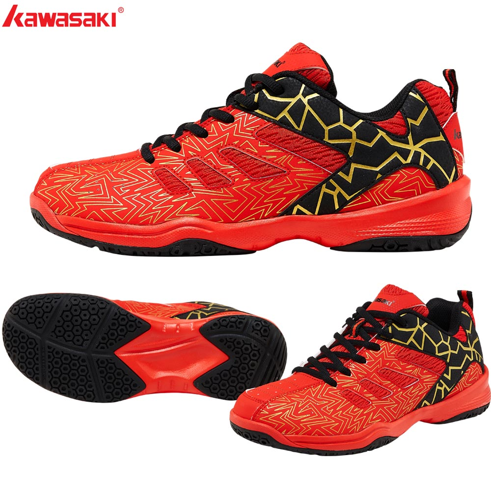 2019 Kawasaki Sports Man Sneakers Badminton Shoes Zapatillas  Rubber Anti-Slippery Indoor Court Sports Shoe For Men Women K-075