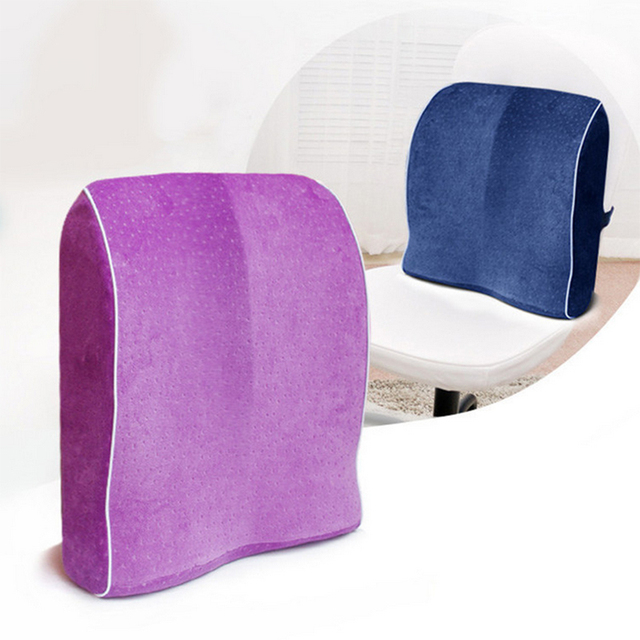 chair pillow for back ihad memory foam lumbar support cushion relief office home car auto travel booster seat 40x40cm