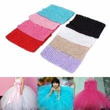 "6""/9″/12″Crochet Tube Top Elastic Waistband Headband Hair Band Girls Tutu Skirt-m15"