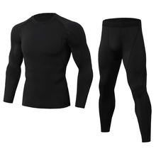 Men Gym Fitness Clothing Set Sportswear Quick Dry Men's Running Compression Suits Tight Fitness Sport Suit Jogging Men's Outdoor цена и фото