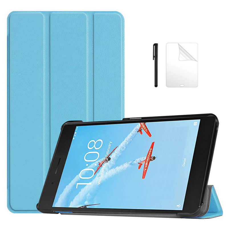 Slim Magnetische PU Leather Case Voor lenovo Tab E7 tb-7104f 7.0 inch smart cover funda Voor lenovo Tab E7 tablet case + Film + Pen