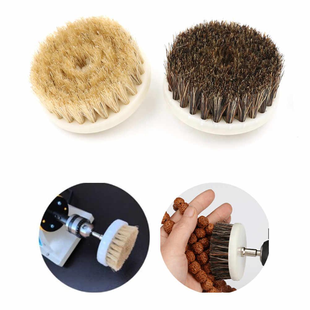 60 milímetros Poder Broca Matagal Escova Limpa para o Poder de Limpeza Do interior Do Carro Matagal Plástico Móveis De Madeira de Couro