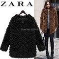 Мех пальто женщин осень и зима шинель С Длинным дизайн сгущает теплый топ мода искусственного меха женская верхняя одежда из искусственного шерсть мех