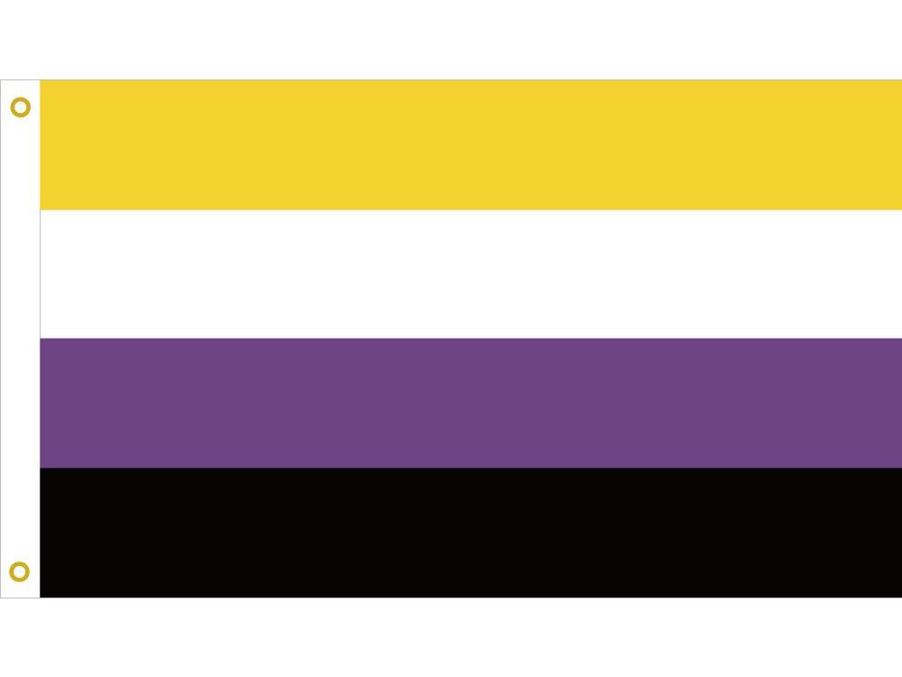 Bandera Y Estandartes LGBT No Binarios Del Orgullo De 3x5 Pies 90x150cm 60x90cm 40x60cm 15x21cm Arandelas, Hay una lesbiana en mi sopa